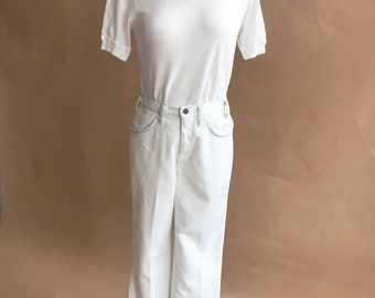 vintage white denim jeans