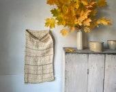 Antique folk Art Homespun hemp sack textile from Eastern Europe