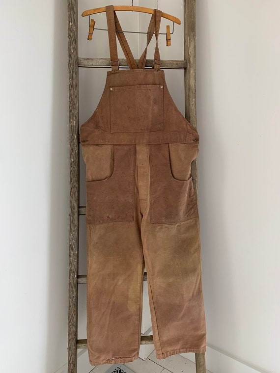 "Vintage Overalls French  Denim 1930-40s antique ""C"