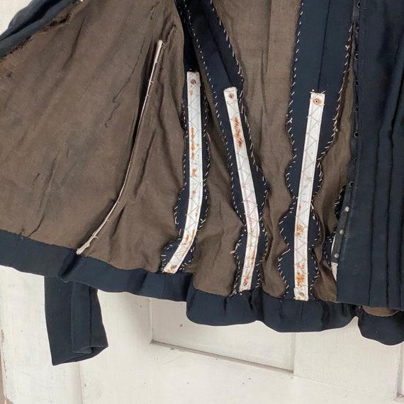 Victorian French Shirt Black Silk Blouse or Antiq… - image 8