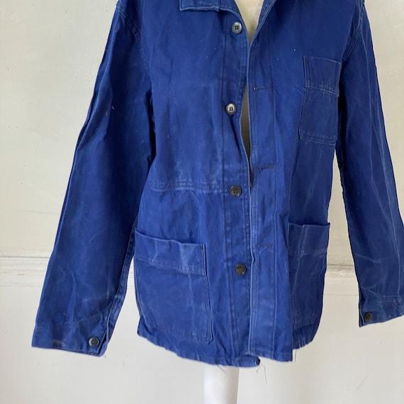 Vintage Jacket French Workwear Blue Jacket 1940s … - image 10