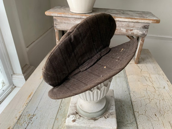 Antique Hat French Chimney Sweep Workwear Wool Cap