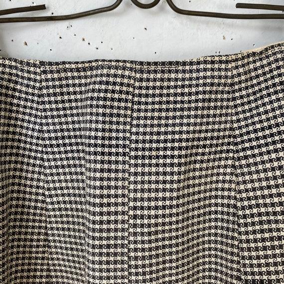 Vintage French Women's Skirt Houndstooth Skirt 19… - image 6
