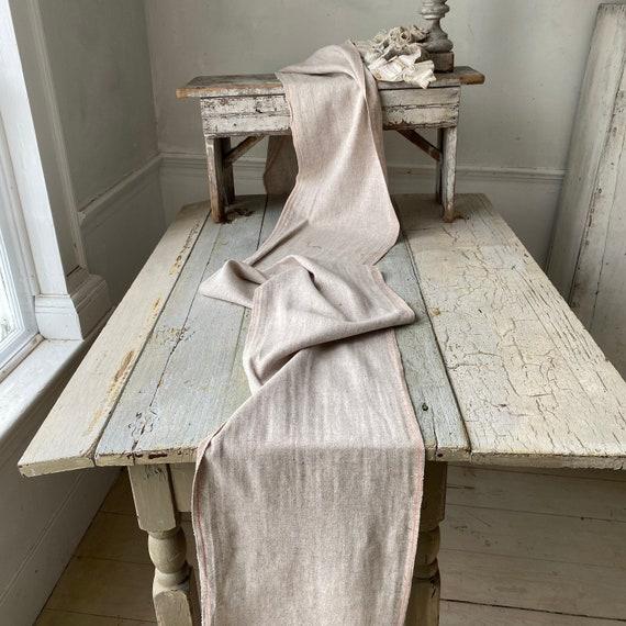 Antique Shepherd's wrap SOFT scarf wool cotton ble