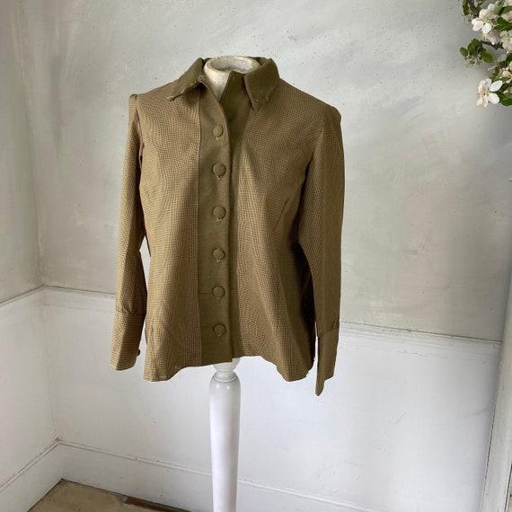 CREATIVE HANDS 1960s Woman's Jacket Plaid Cotton … - image 1