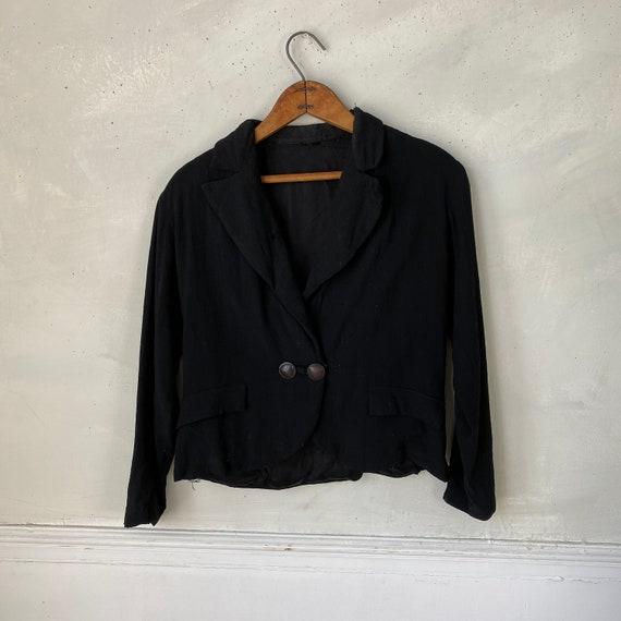 1950s Women's Dinner Jacket Rayon Jacket Workwear… - image 6
