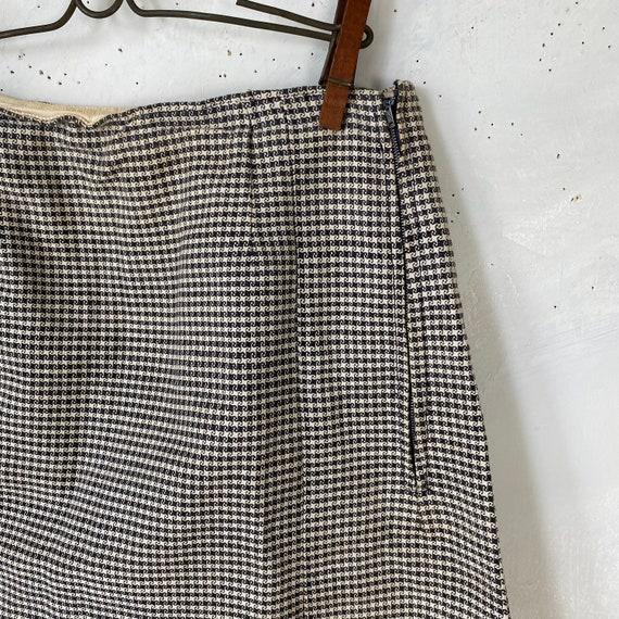 Vintage French Women's Skirt Houndstooth Skirt 19… - image 5