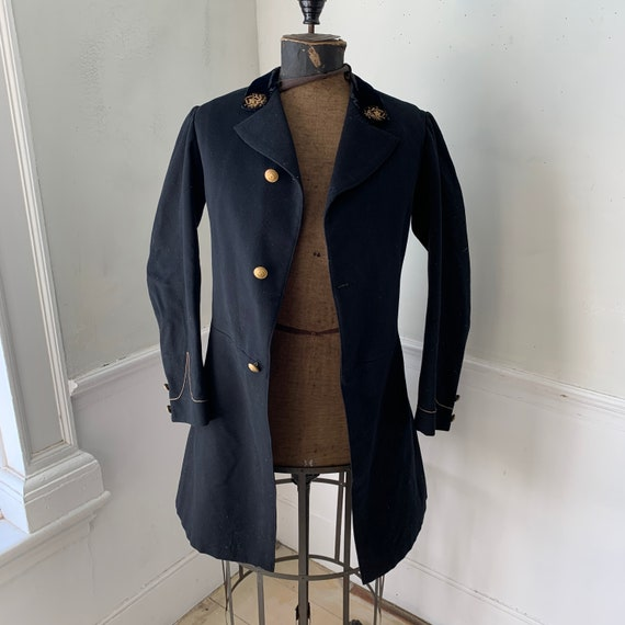 Antique French military coat jacket GORGEOUS small