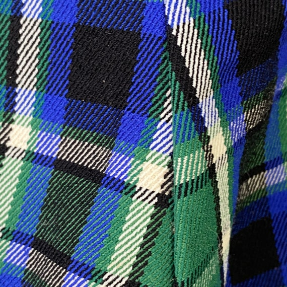 Henry Ours Paris Plaid Wool Polyester Pants 1960s… - image 10