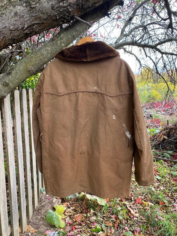 work wear for REPAIR  Chore coat Vintage Canvas J… - image 8