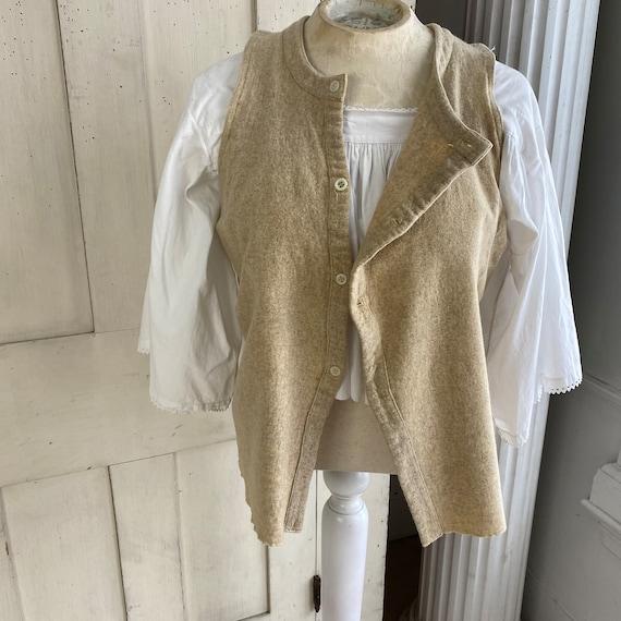 Vintage Shirt 1940s Wool Undershirt French Workwe… - image 4