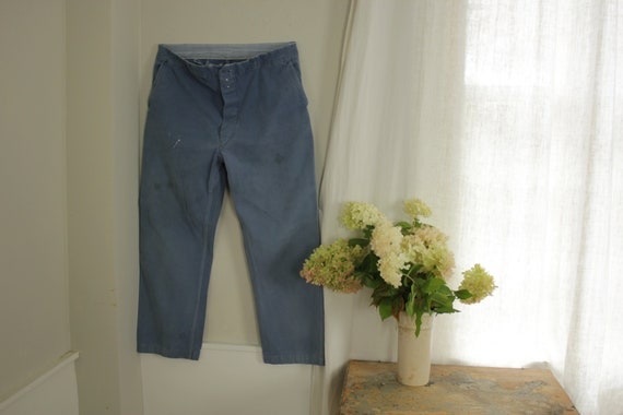 1970's vintage jeans French work pants workwear bl