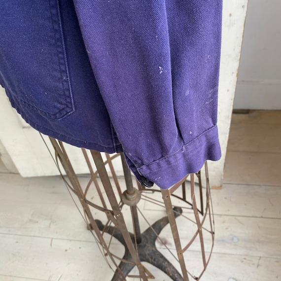 Vintage Jacket French Workwear Faded Antique Dark… - image 6