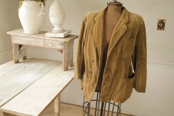 Vintage Corduroy Jacket French Hunting Workwear Kh