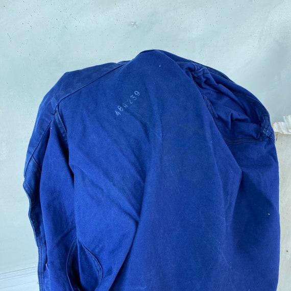 Vintage Jacket French Workwear Blue Jacket 1940s … - image 3