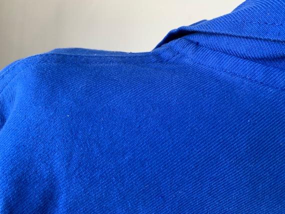 Vintage Jacket French Prussian Blue Farmer's Work… - image 5