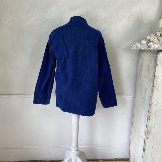 Vintage Jacket French Workwear Blue Jacket 1940s … - image 6