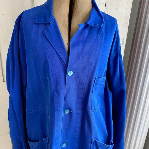 Vintage Jacket French Workwear Antique Prussian B… - image 5