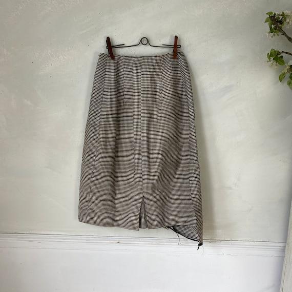 Vintage French Women's Skirt Houndstooth Skirt 19… - image 9