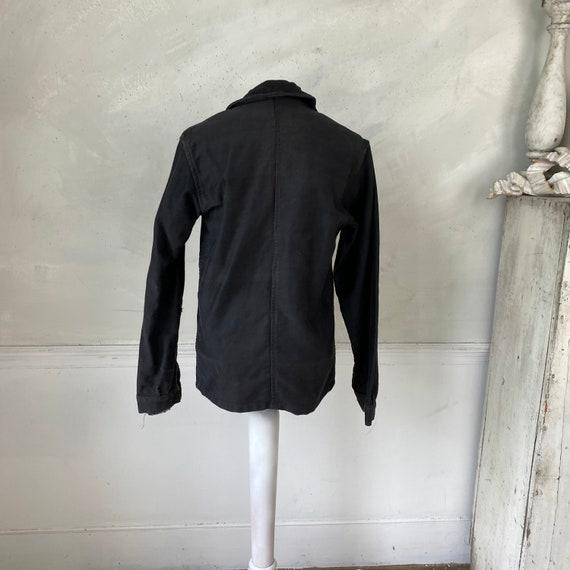 Black Moleskin Jacket 1910-20 Antique French Clot… - image 9