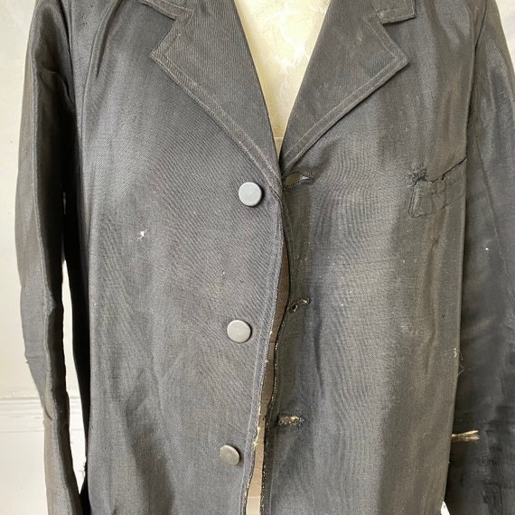 Men's Vintage Wool Jacket early 1900s French Work… - image 5
