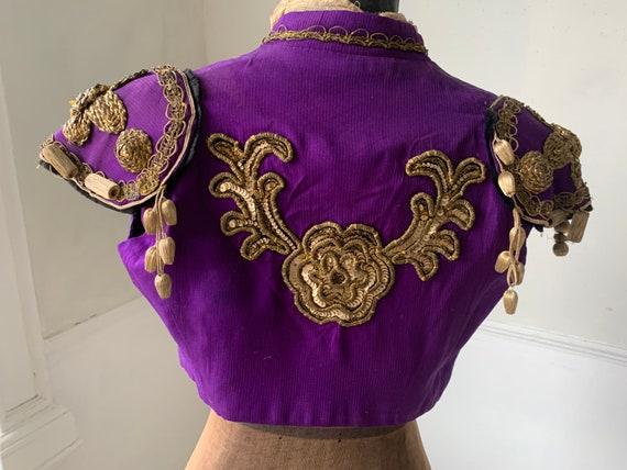 Vintage French Theatrical purple  Vest Waistcoat w
