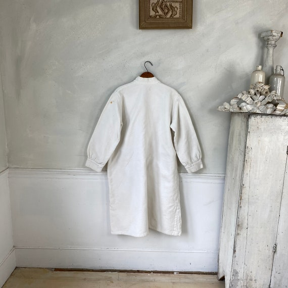 White Brushed Cotton Shirt Textured Sleepwear 192… - image 9