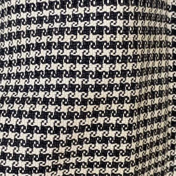 Vintage French Women's Skirt Houndstooth Skirt 19… - image 4