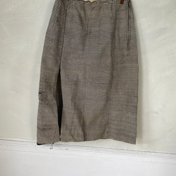 Vintage French Women's Skirt Houndstooth Skirt 19… - image 2