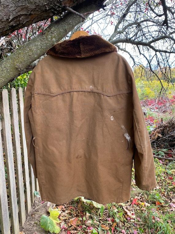 work wear for REPAIR  Chore coat Vintage Canvas J… - image 9