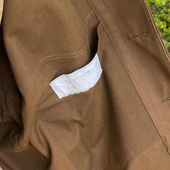 Vintage Canvas Jacket Heavy Brown Cotton Unused F… - image 9