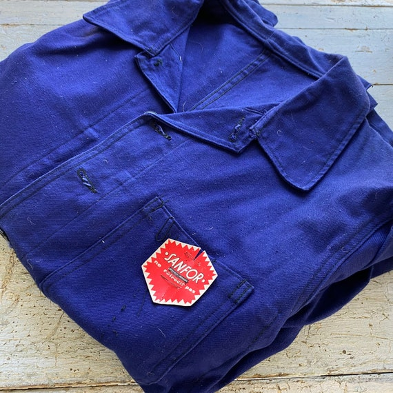 UNUSED Vintage Jacket French Deadstock Workwear S… - image 3