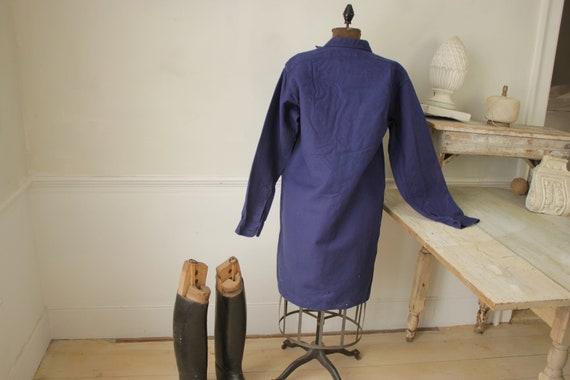 Shirt Blue Heavy cotton or light jacket Vintage F… - image 8
