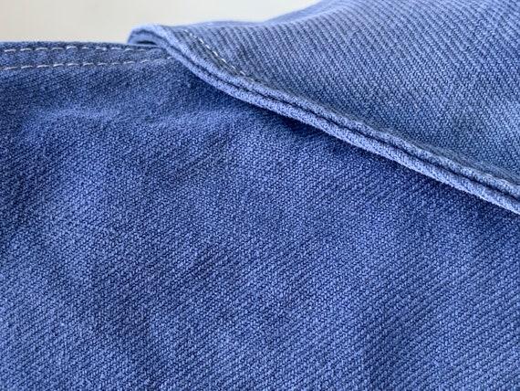 Vintage French Workwear Jacket Faded Antique Fren… - image 6