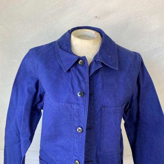 Vintage Jacket French Workwear Blue Jacket Faded … - image 4