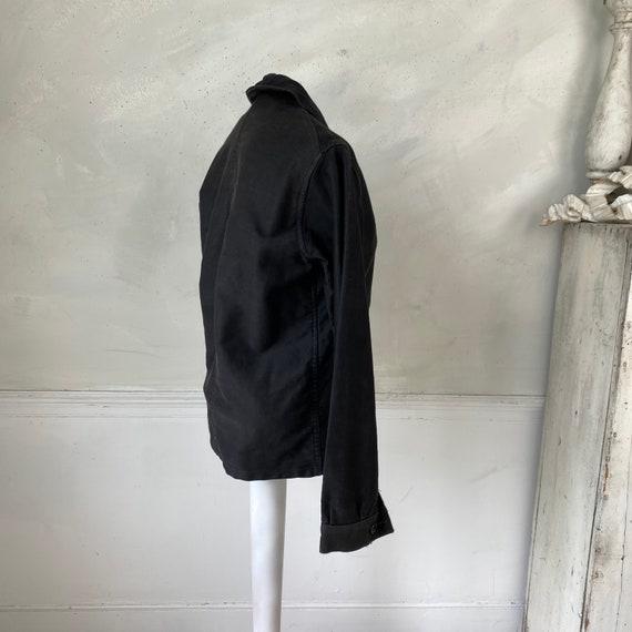 Black Moleskin Jacket 1910-20 Antique French Clot… - image 8