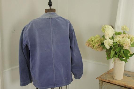 Jacket French work wear Faded Antique Blue Denim … - image 7