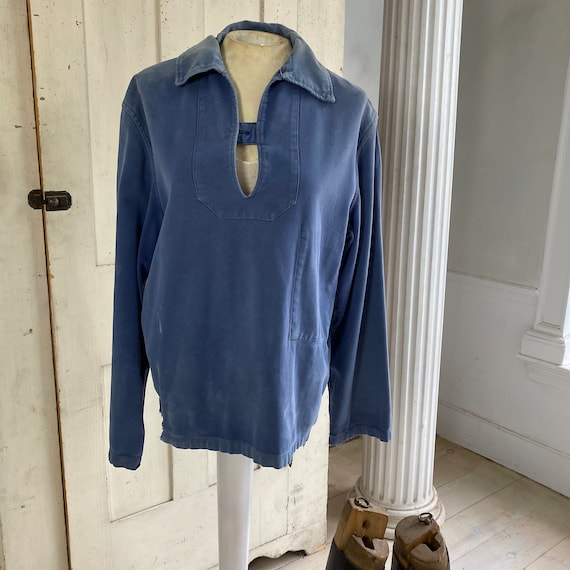 French blue Workwear work wear Vintage military s… - image 3
