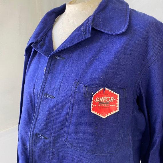 UNUSED Vintage Jacket French Deadstock Workwear S… - image 5