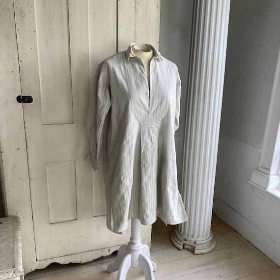 Gray Chore wear work wear French Plaid shirt Chore