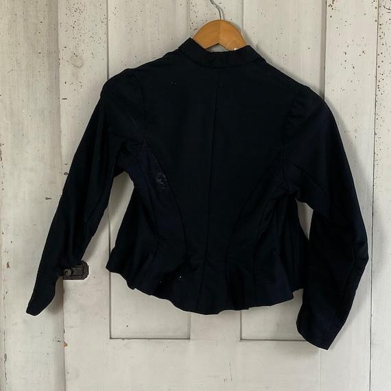 Victorian French Shirt Black Silk Blouse or Antiq… - image 9