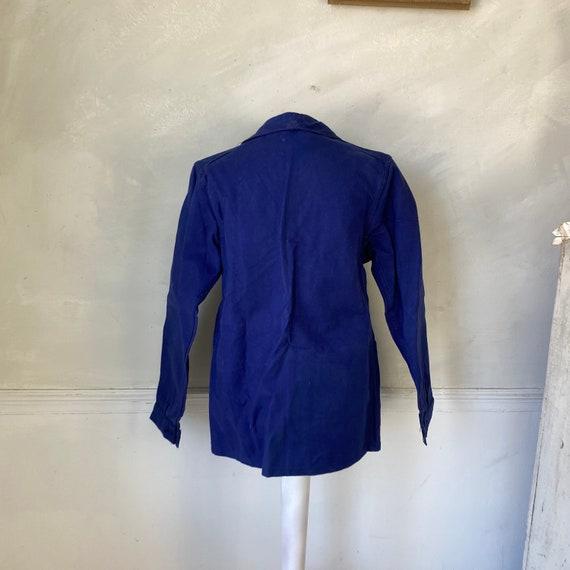 Vintage Jacket French Workwear Blue Jacket Faded … - image 6