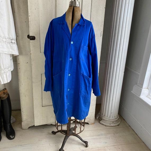 Vintage Jacket French Workwear Antique Prussian B… - image 1