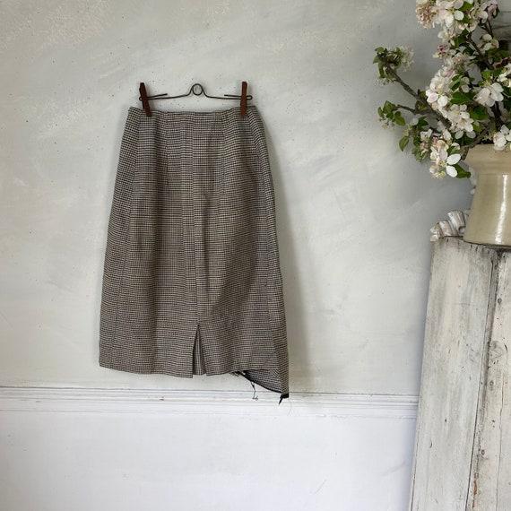 Vintage French Women's Skirt Houndstooth Skirt 19… - image 7