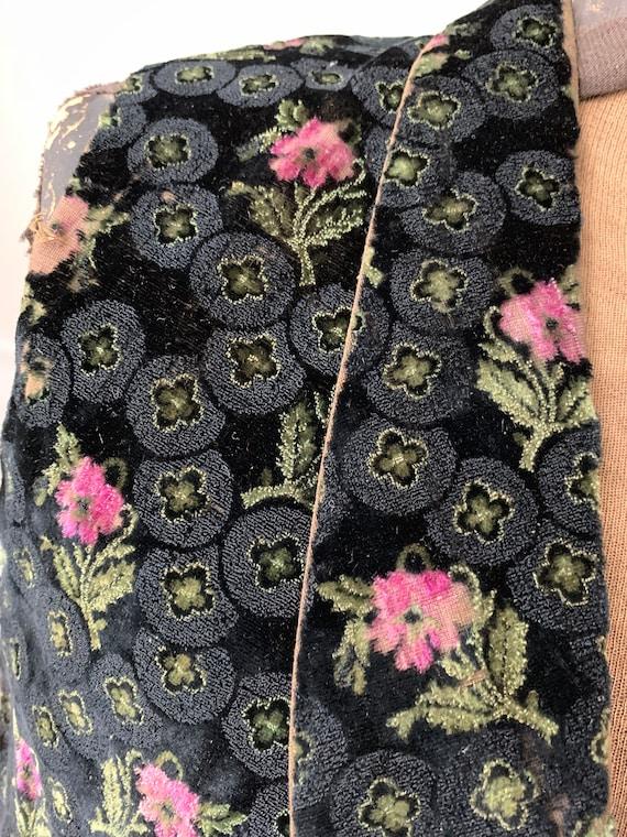 Antique Velvet Vest Stunning Early Waistcoat with