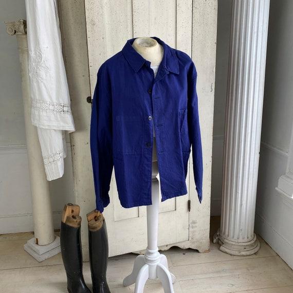 Vintage Jacket French Workwear Jacket Faded Antiq… - image 2