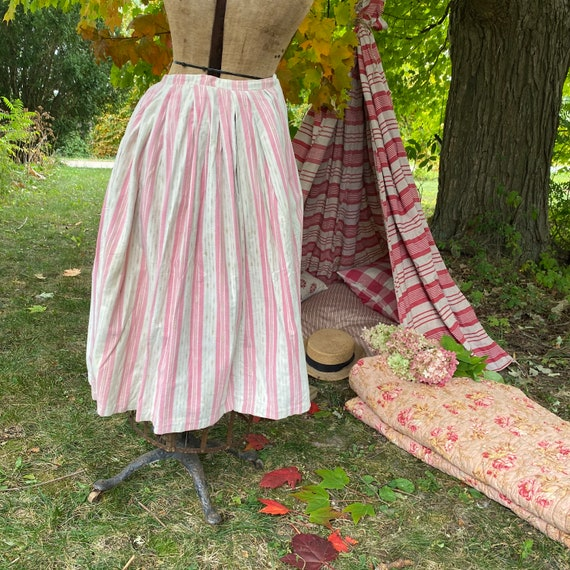 Pink French Antique French petticoat brushed cotto