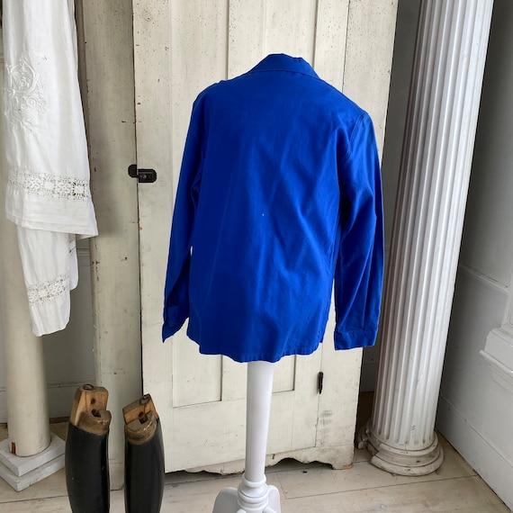 Vintage Jacket French Workwear Jacket Faded Antiq… - image 5