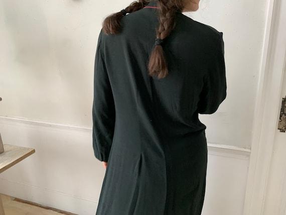 Vintage Black Smock or Housedress French Workwear - image 5