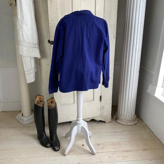 Vintage Jacket French Workwear Jacket Faded Antiq… - image 7
